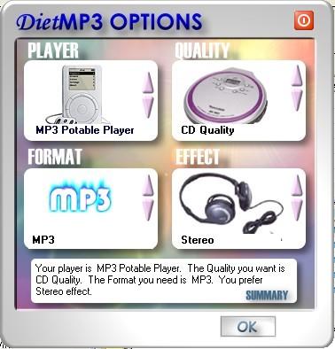 ������ Diet MP3 v4.03���� ����� mp3 �� ������ ������
